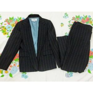 Tahari Shadowstripe Pant Suit